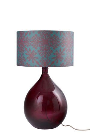 Large Teal Clover Cane Lampshade (50% Saving)