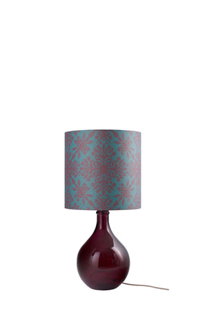 LAMPSHADE STOCK SALE - Geyson Table Lamp (shade only, option to buy base) - Teal Clover Cane (50% DISCOUNT)