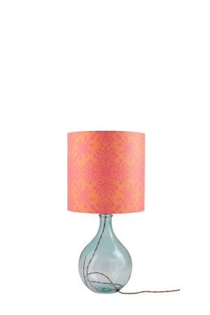 Geyson Table Lamp - Clear with Orange Clover Cane Shade