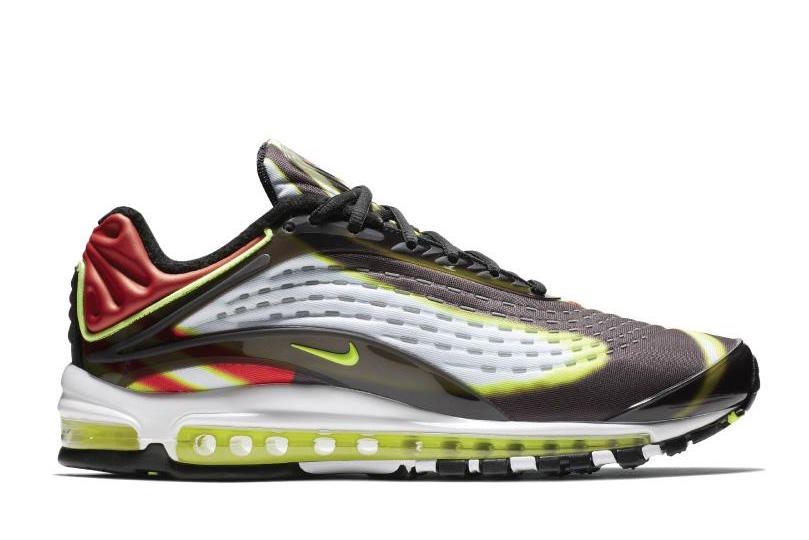 245378f092 Over the years, it's been reimagined and retooled, but the heritage always  remains. Nike Air Max Deluxe BLACK/VOLT-HABANERO RED-WHITE