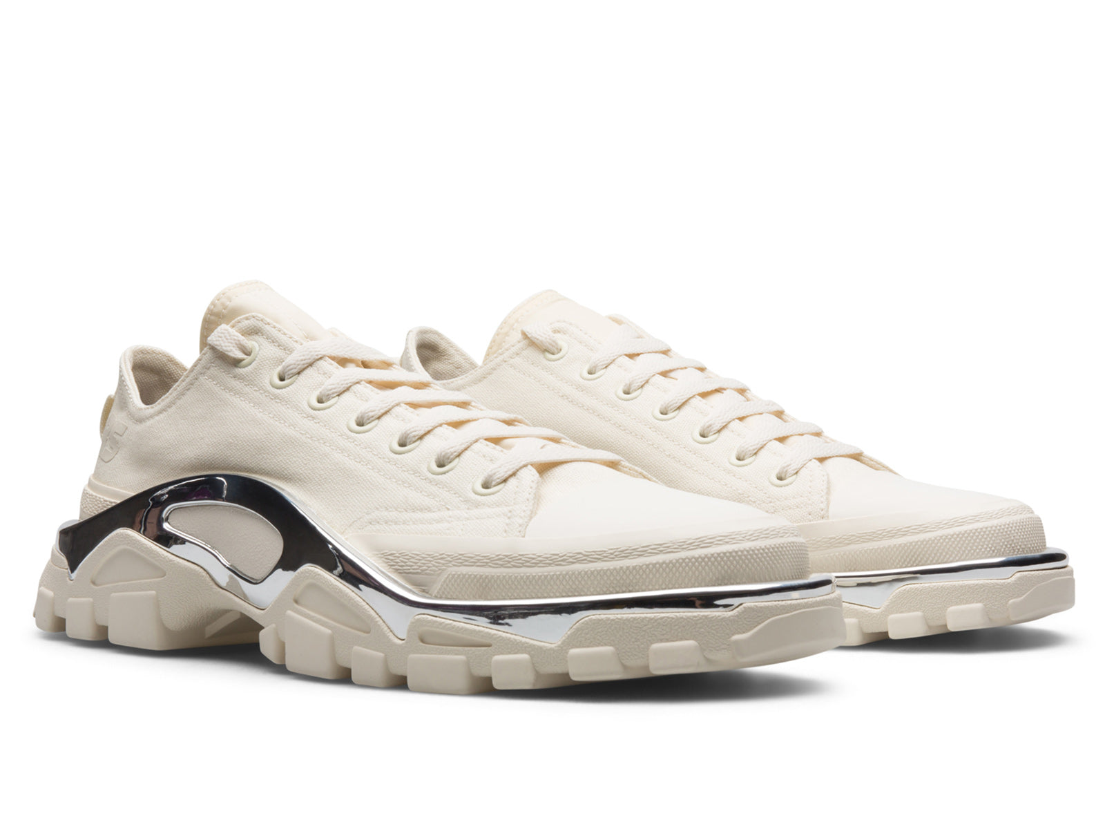 reputable site af722 87925 ... the Raf Simons Detroit Runner is a study in extreme visual contrasts. A  classic, low top, canvas court shoe serves as the base for a futuristic  tread ...