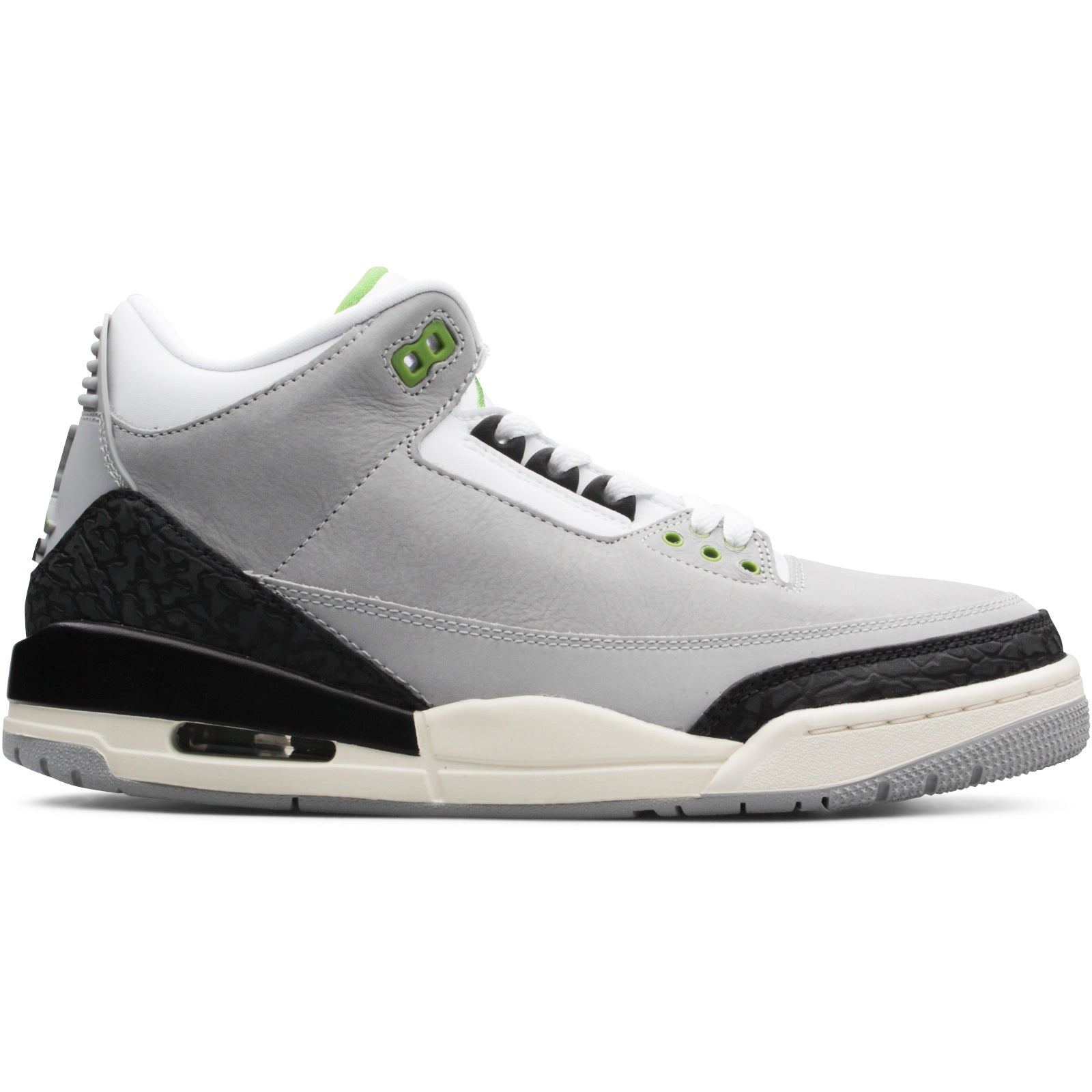 1170f6d2707737 Air Jordan 3 Retro LIGHT SMOKE GREY CHLOROPHYLL-BLACK-WHITE-SAIL 136064-006.  Retail   190
