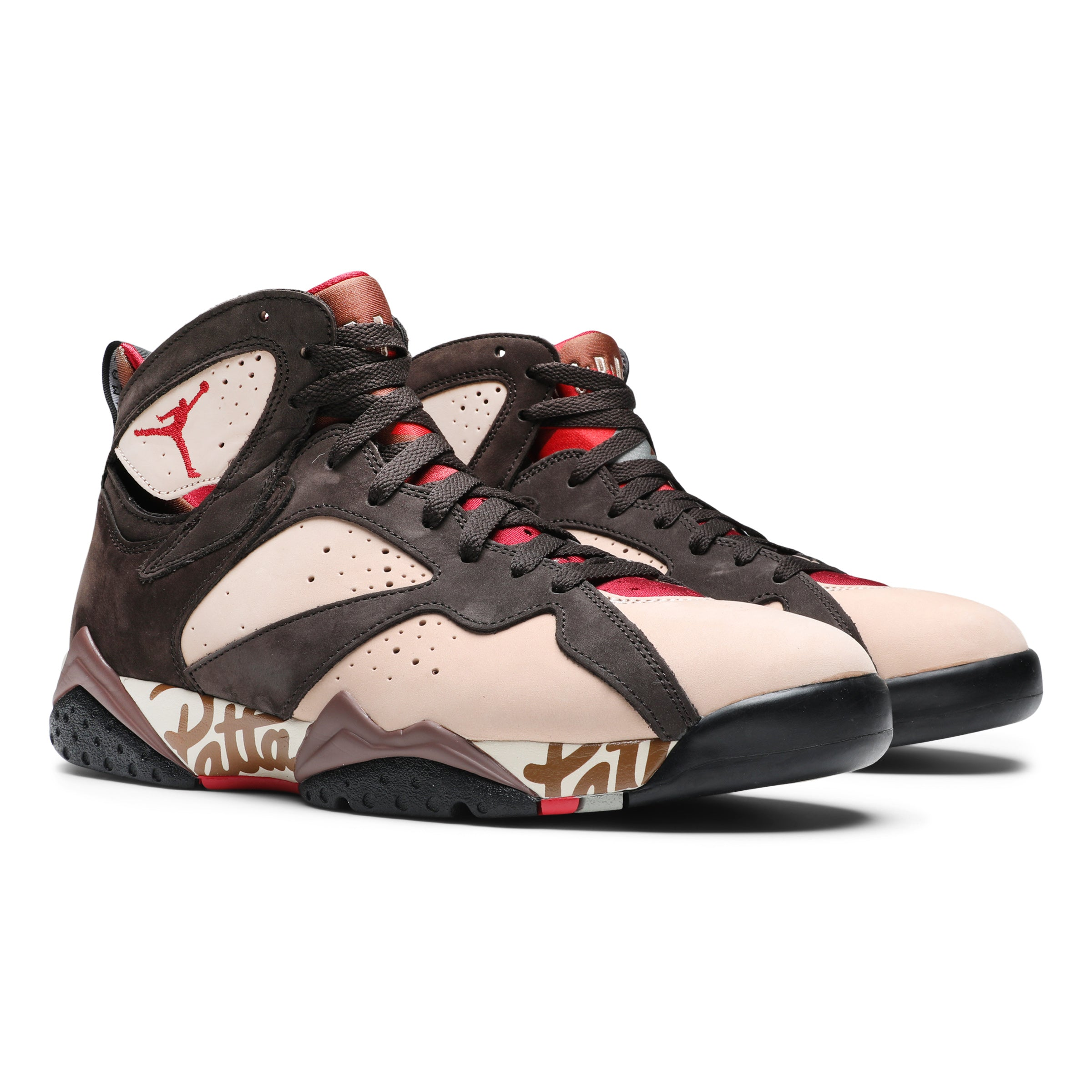 36f8cbbfcbbd7 Air Jordan x Patta 7 Retro SHIMMER/TOUGH RED-VELVET BROWN AT3375-200.  Retail: $200