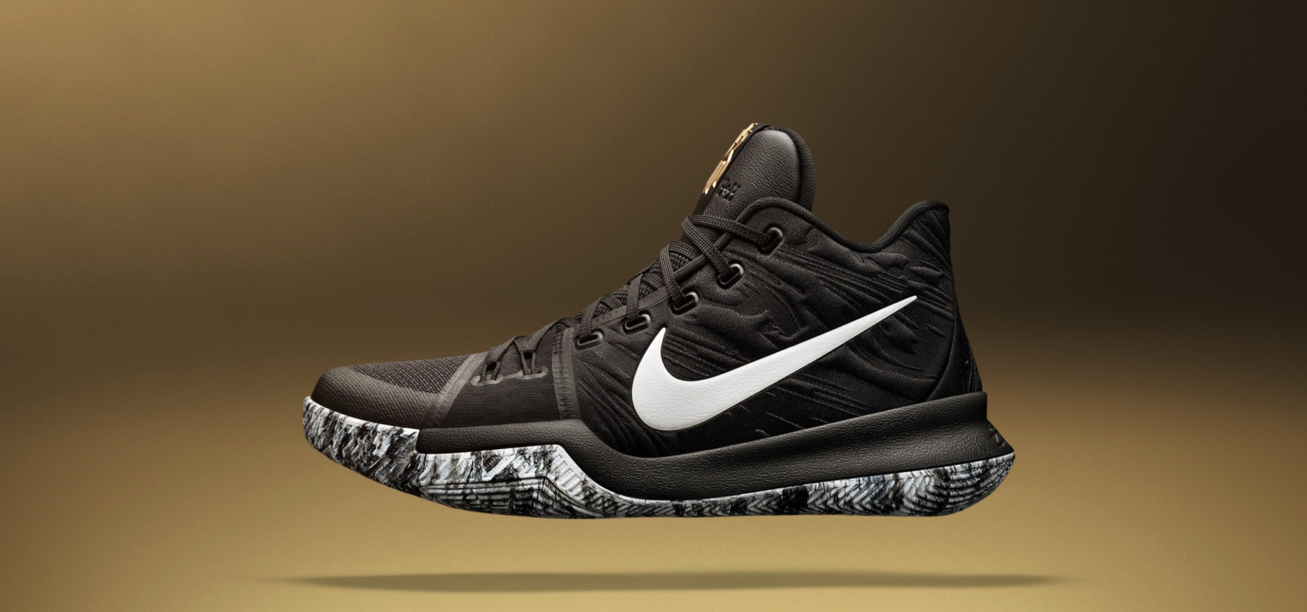 size 40 6d7dc 8225d Accompanied with the gold accents on the tongue, the black and white  splattered outsole conveys the prideful look associated with Black History  Month.