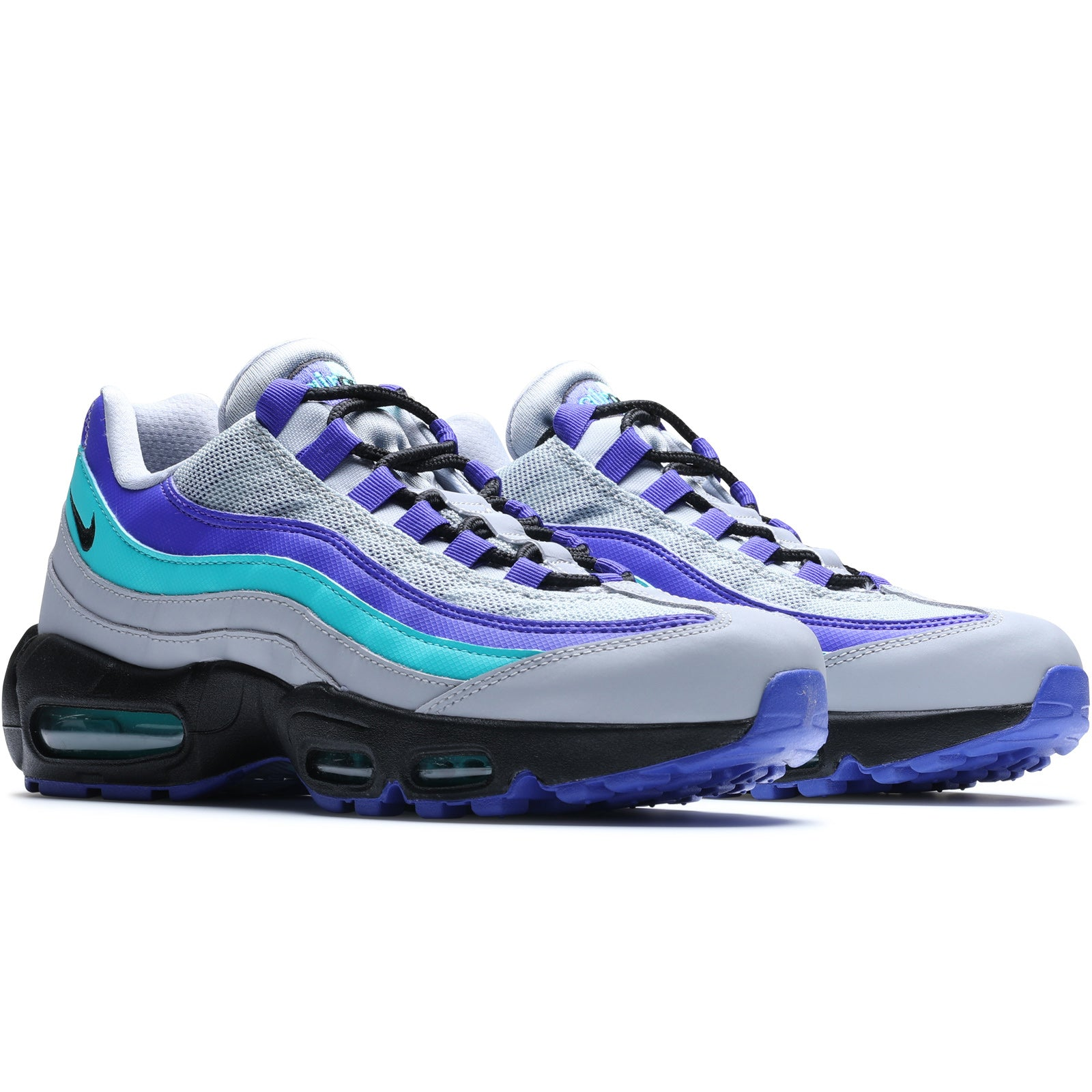first rate d3ca7 fc2d5 Nike Air Max 95 OG WOLF GREYBLACK-INDIGO BURST-HYPER JADE AT2865-001.  Retail 160