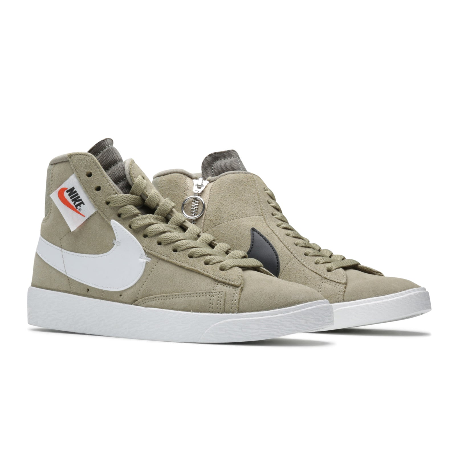 0290370880258 Women s Nike Blazer Mid Rebel BLACK SUMMIT WHITE-OIL GREY-OIL GREY  BQ4022-001. Retail   100
