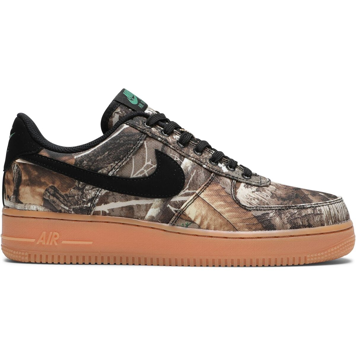 4bf689c23466 Nike Air Force 1  07 LV8 3. BLACK BLACK-ALOE VERDE-GUM MED BROWN  AO2441-001. Retail   100