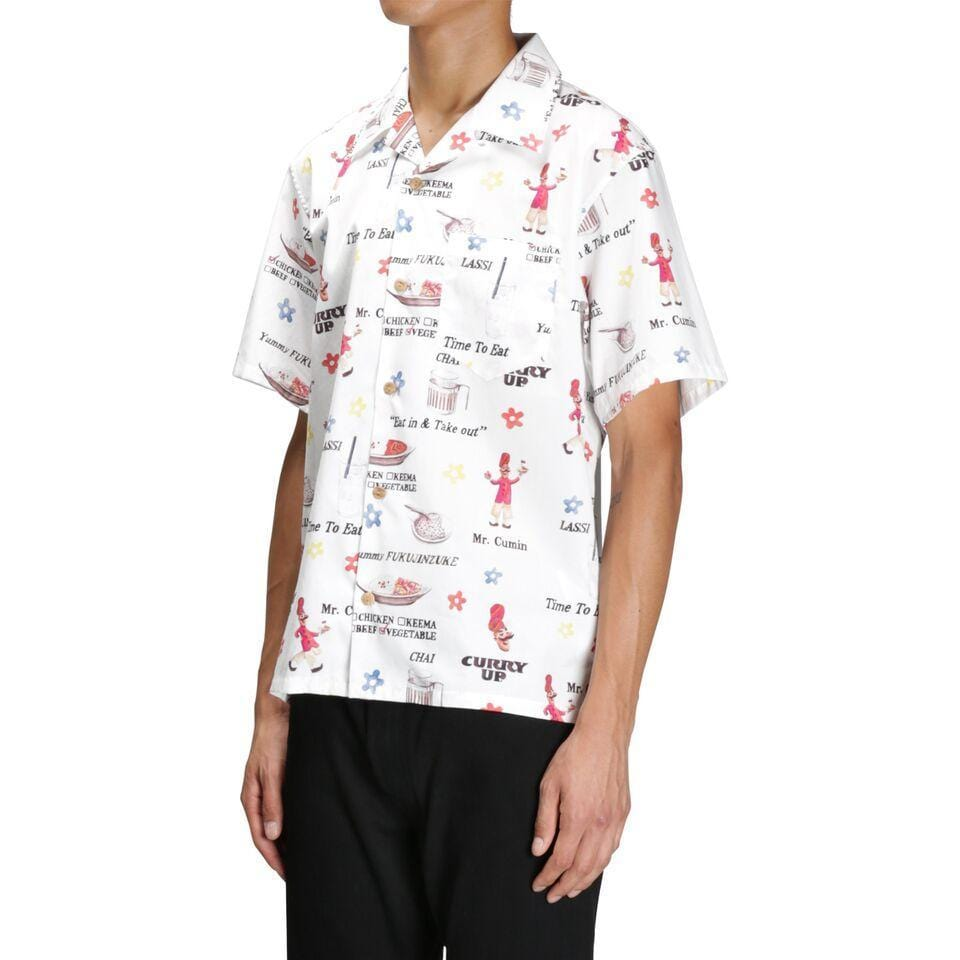 Human Made CURRY UP ALOHA SHIRT (White)