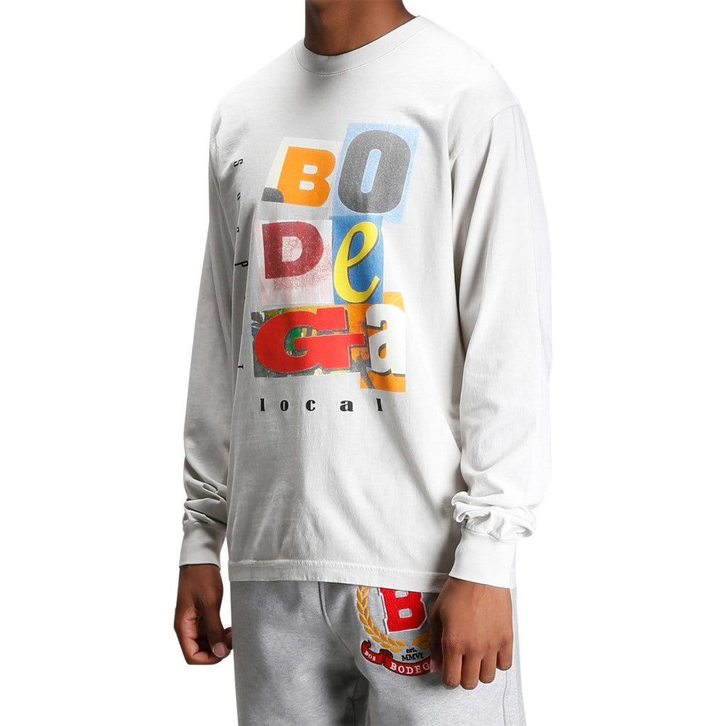 Bodega COLLAGE L/S TEE Cement