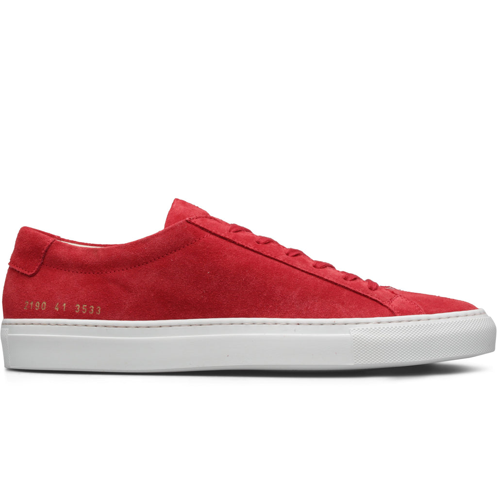 Common Projects ORIGINAL ACHILLES LOW SUEDE (Red) [3533]