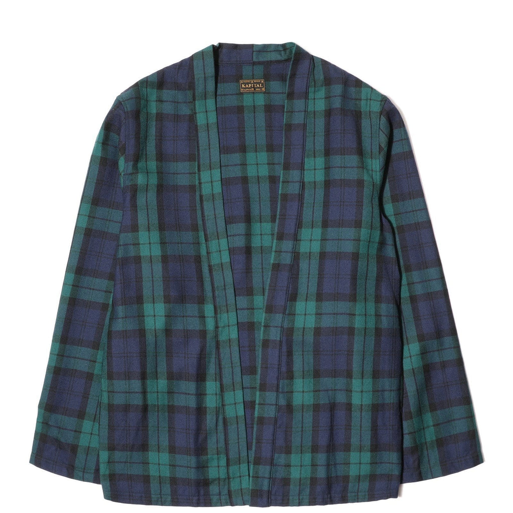 Kapital WOOL TARTAN CHECK KAKASHI SHIRT Navy