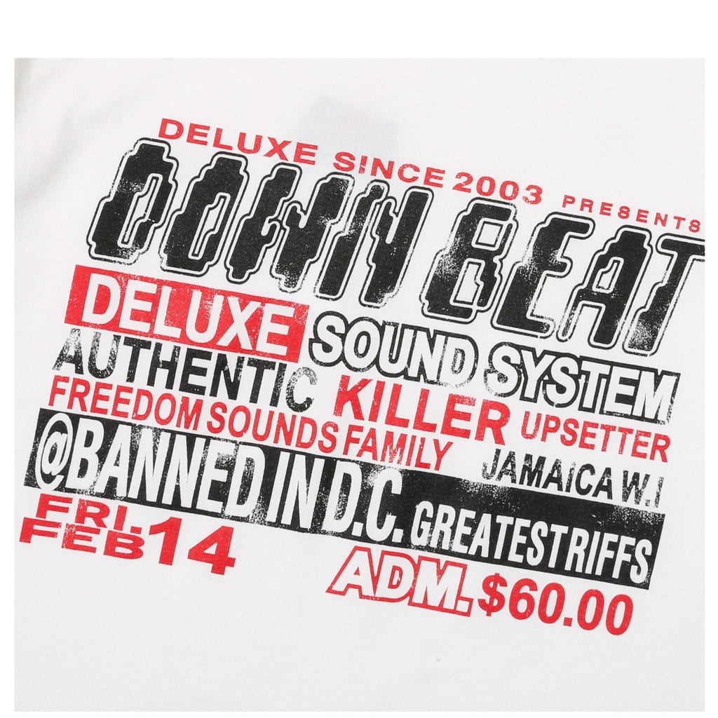 Deluxe DOWN BEAT TEE White