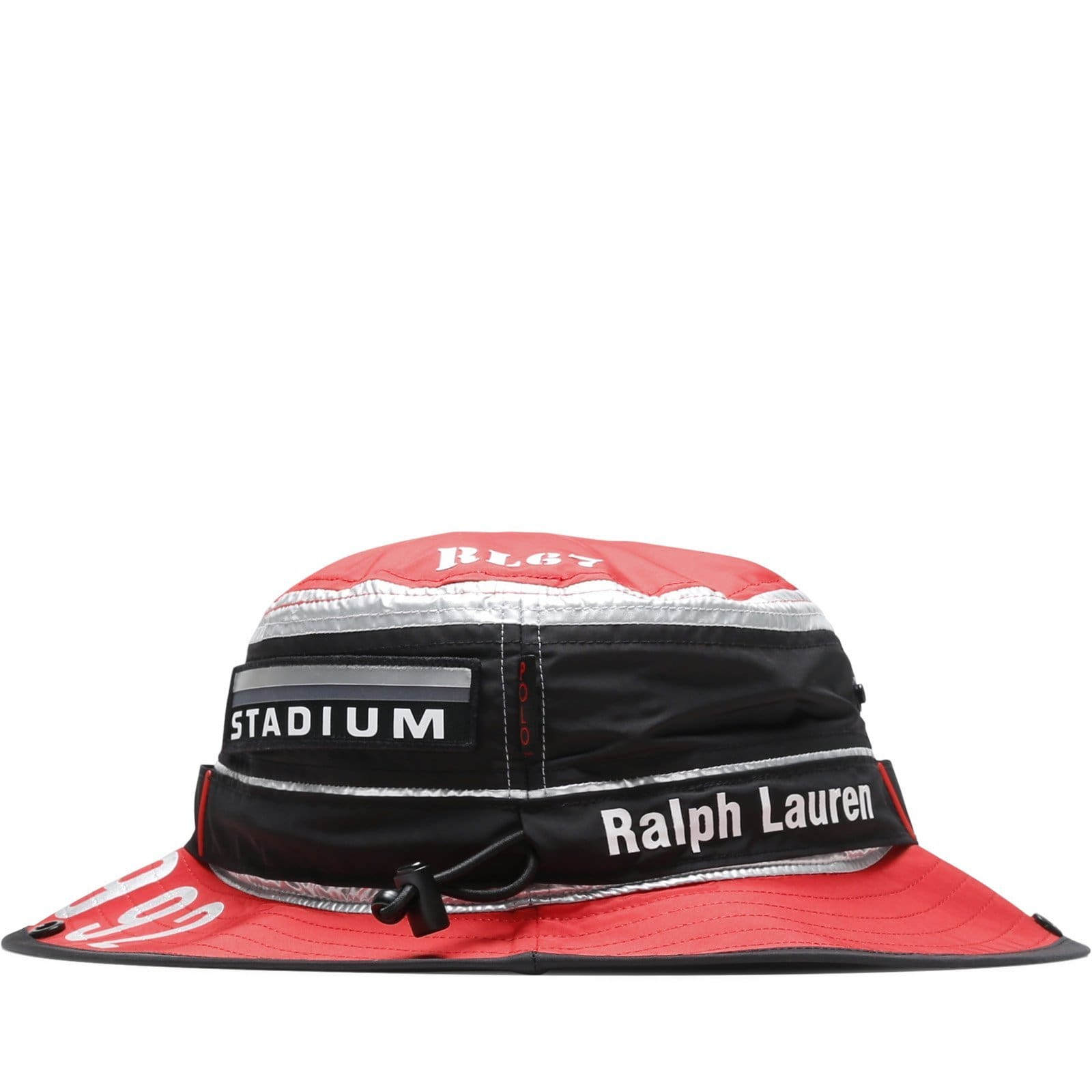 bf5fb95d10548 Polo Ralph Lauren BOONEY CAP Injection Red Silver