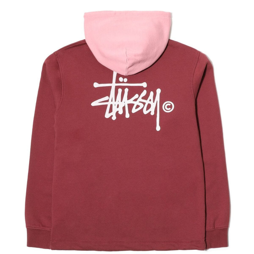 Stussy TWO TONE HOOD (Burgundy)