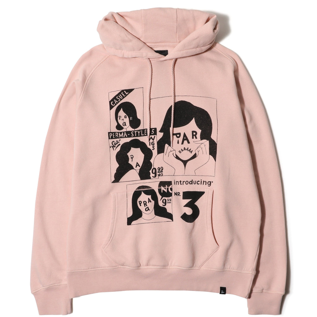 By Parra HOODED SWEATER PERMA STYLED 5 Pink