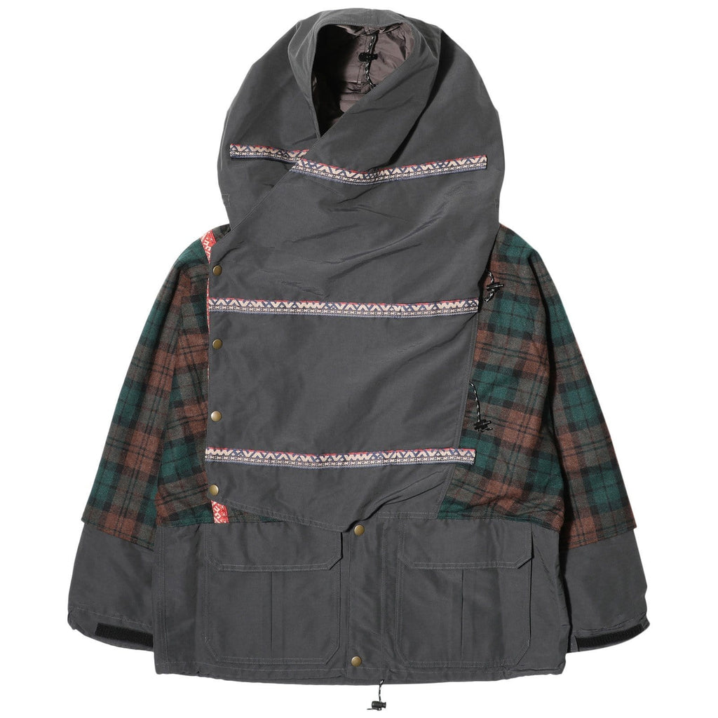 Kapital Outerwear 60/40 CLOTH X WOOL CHECK COLORFUL KAMAKURA MOUNTAIN PARKA