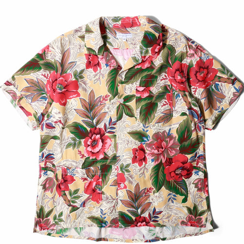 Engineered Garments CAMP SHIRT Yellow/Hawaiian Floral