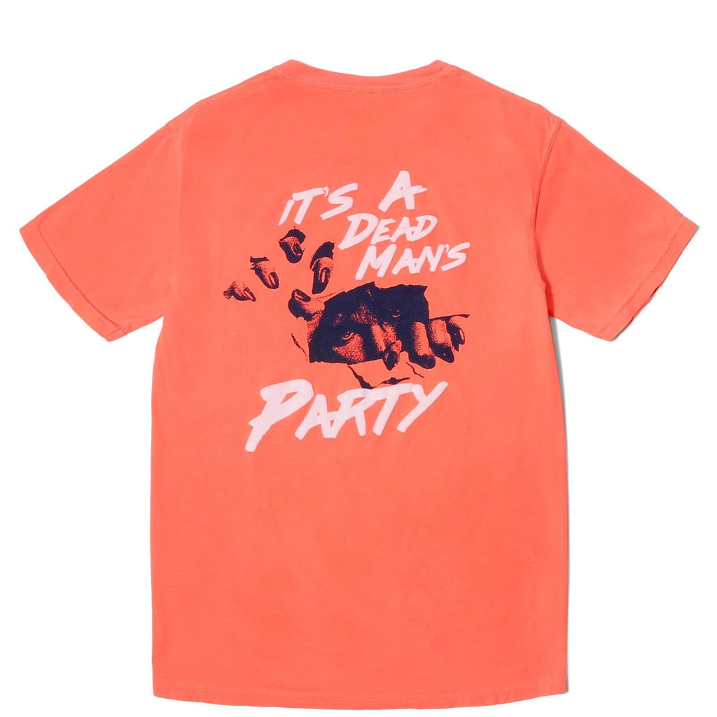 Surf Is Dead DEAD MANS TEE Neon Red