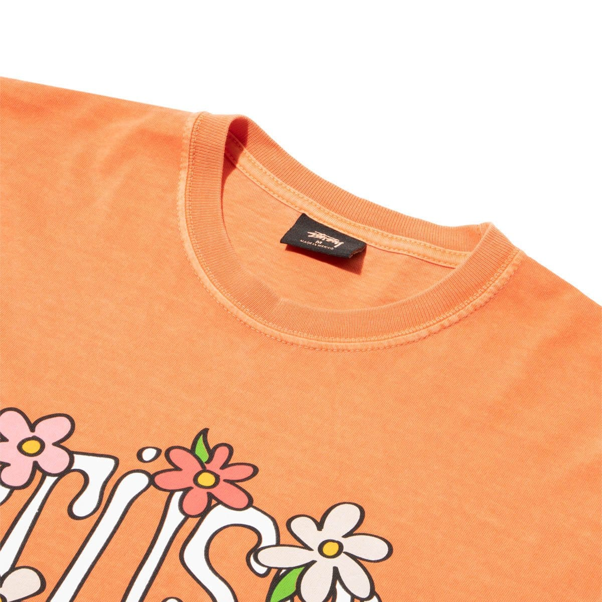 Stüssy T-Shirts FLOWER COLLEGIATE PIG. DYED TEE