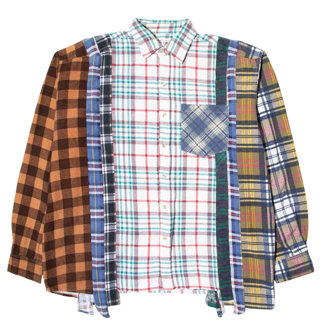 Needles Shirts ASSORTED / XL 7 CUTS FLANNEL SHIRT SS21 31