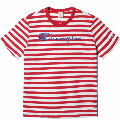 Champion Europe CREWNECK T-SHIRT Red/White