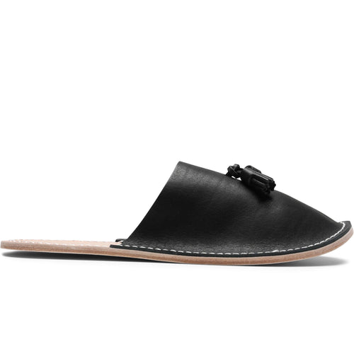 Hender Scheme LEATHER SLIPPER Black