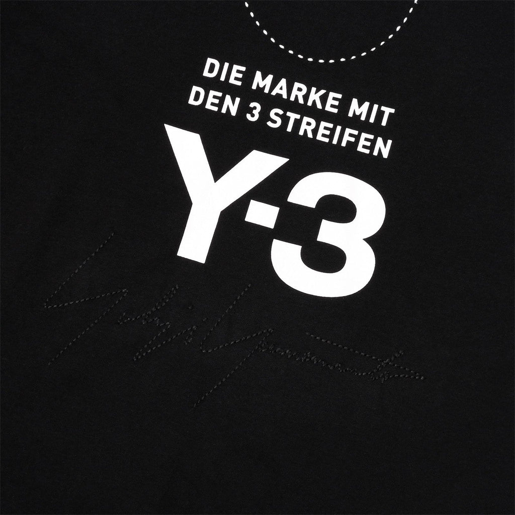 Adidas Y-3 STACKED LOGO SS TEE Black/Core White
