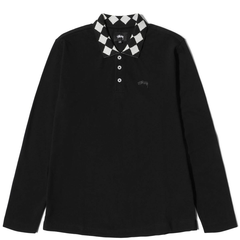 c2c047b4f Shirts. Stussy LOUIE LS POLO in BLACK
