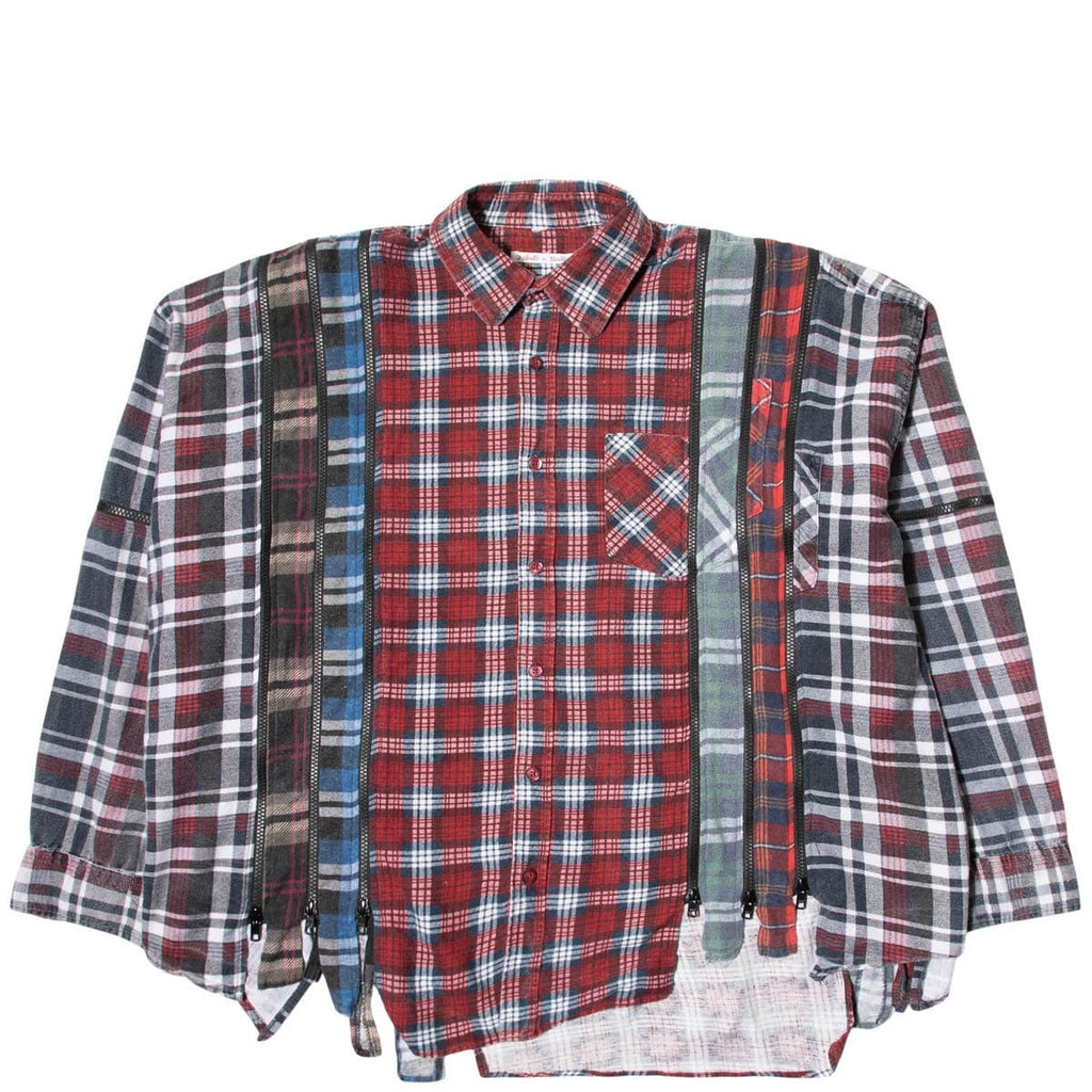 Needles Shirts ASSORTED / O/S 7 CUTS ZIPPED WIDE FLANNEL SHIRT SS21 6