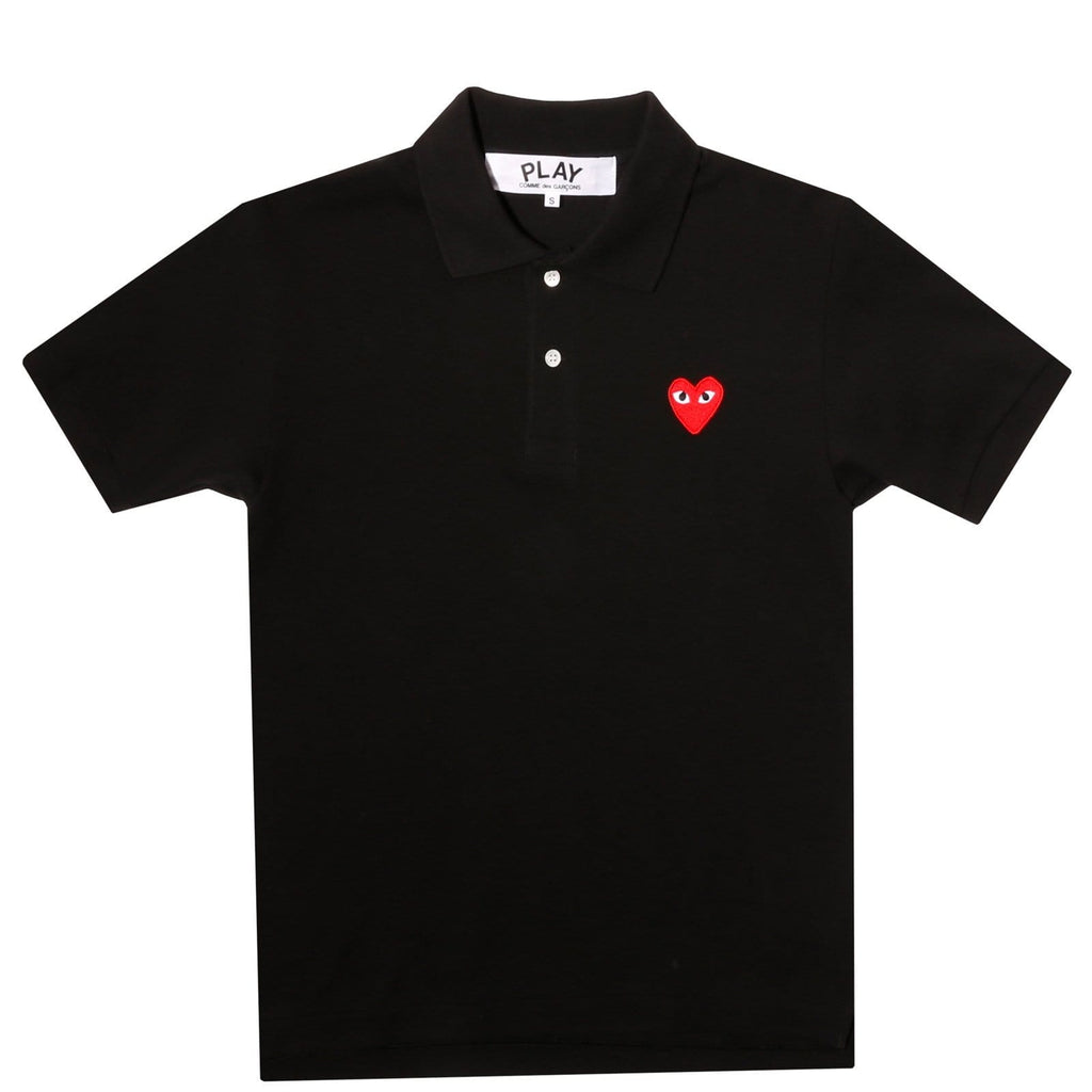 Comme des Garcons PLAY POLO SHIRT Black