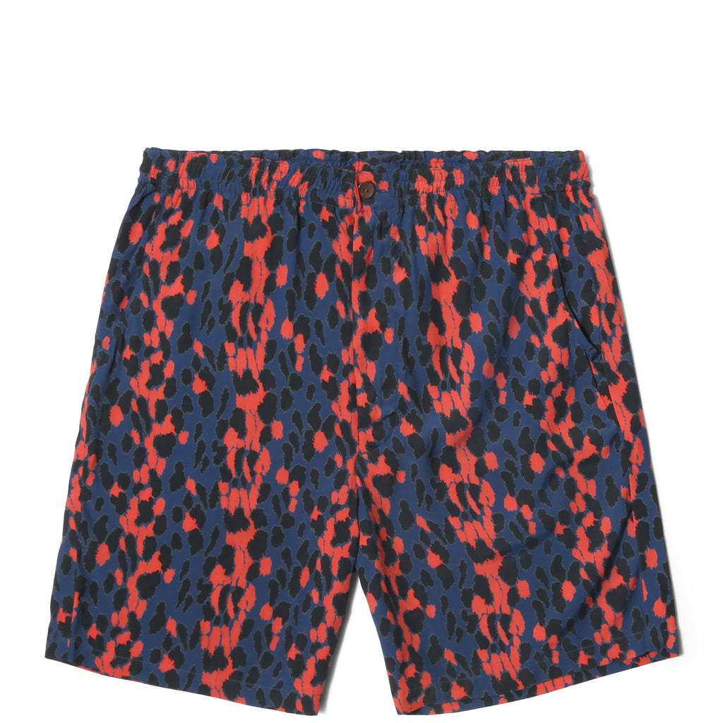 "Wacko Maria ""LEOPARD"" HAWAIIAN SHORTS Blue/Red"