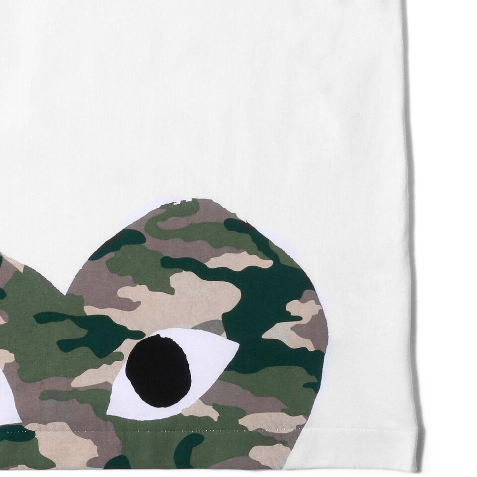 Comme des Garcons PLAY CAMOUFLAGE T-SHIRT (White)