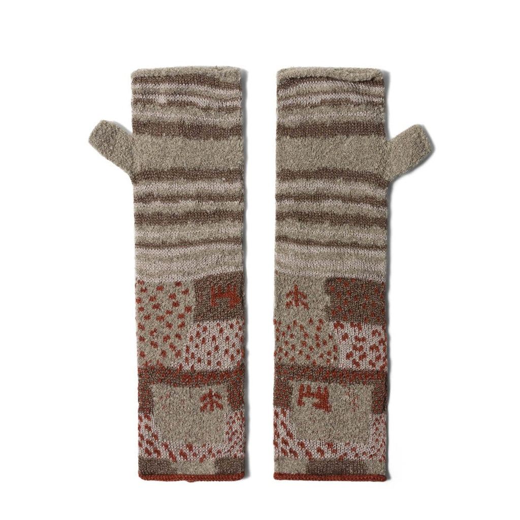 Kapital Bags & Accessories NAT / O/S GABBEH PATCHWORK 2WAYS MITTENS
