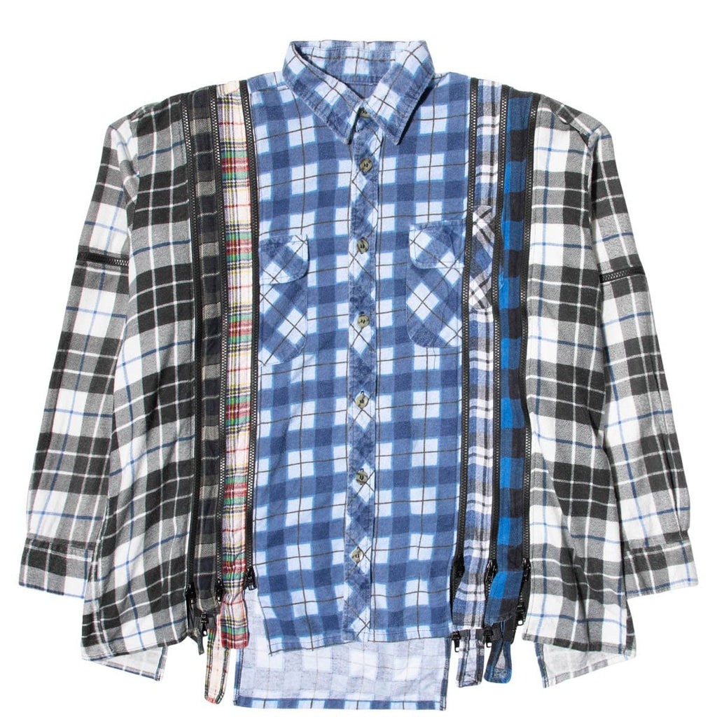 Needles Shirts ASSORTED / O/S 7 CUTS ZIPPED WIDE FLANNEL SHIRT SS21 14