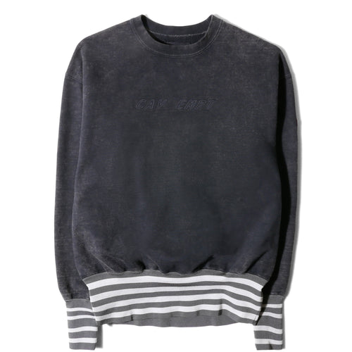 Cav Empt WIDE RIB HEAVY CREW NECK Grey