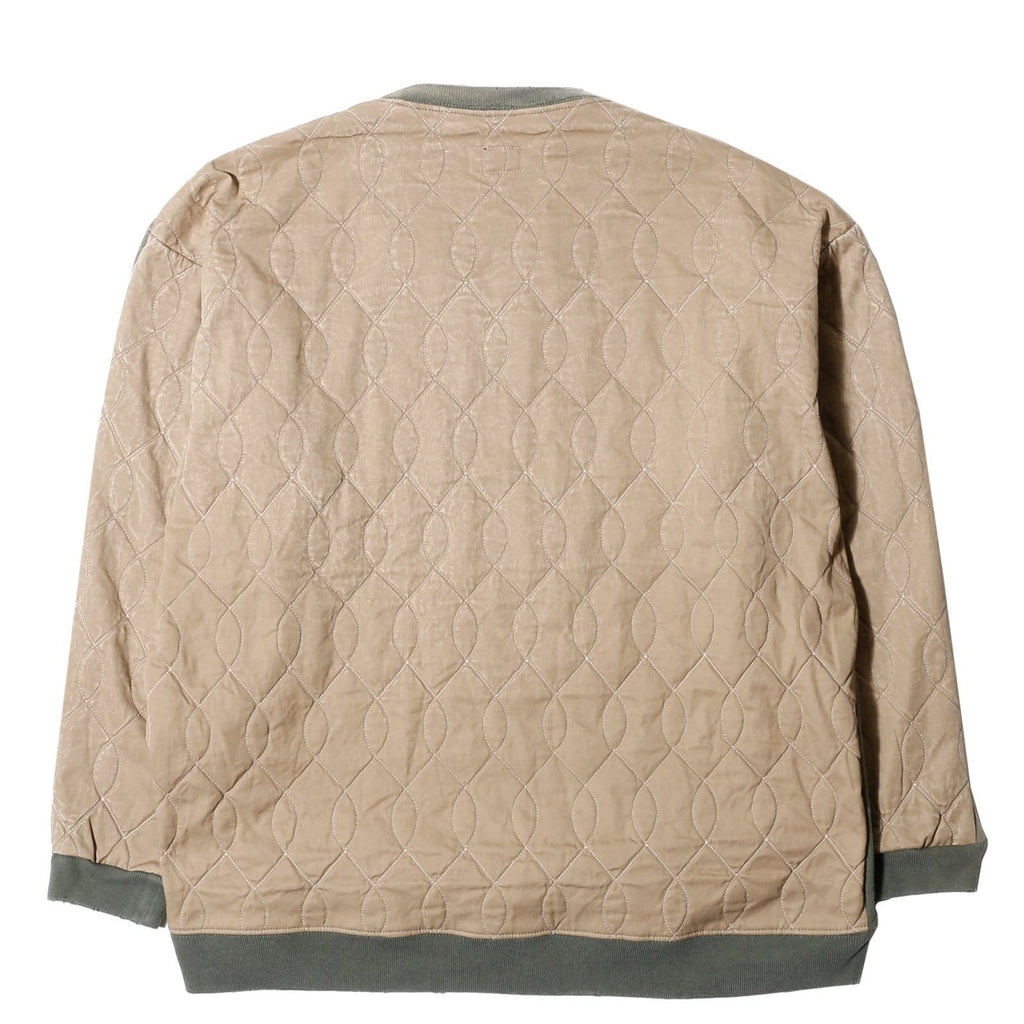 Kapital FLEECY KNIT X TWILL QUILTING MILITARY BIG SWEAT SHIRT Khaki