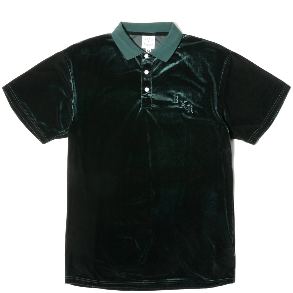 Born x Raised VELOUR SHORT SLEEVE in Green