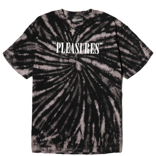 Pleasures BALANCE LOGO TYE DYE T-SHIRT Spiral Black