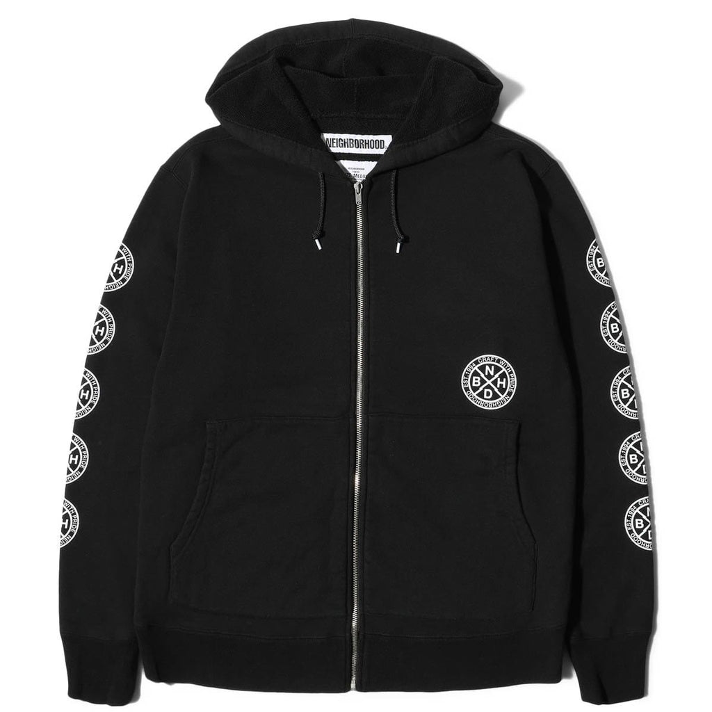 Neighborhood LOGIC / C-ZIP HOODED . LS Black