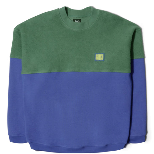 Brain Dead SPLIT CREW NECK (GREEN/BLUEBERRY)