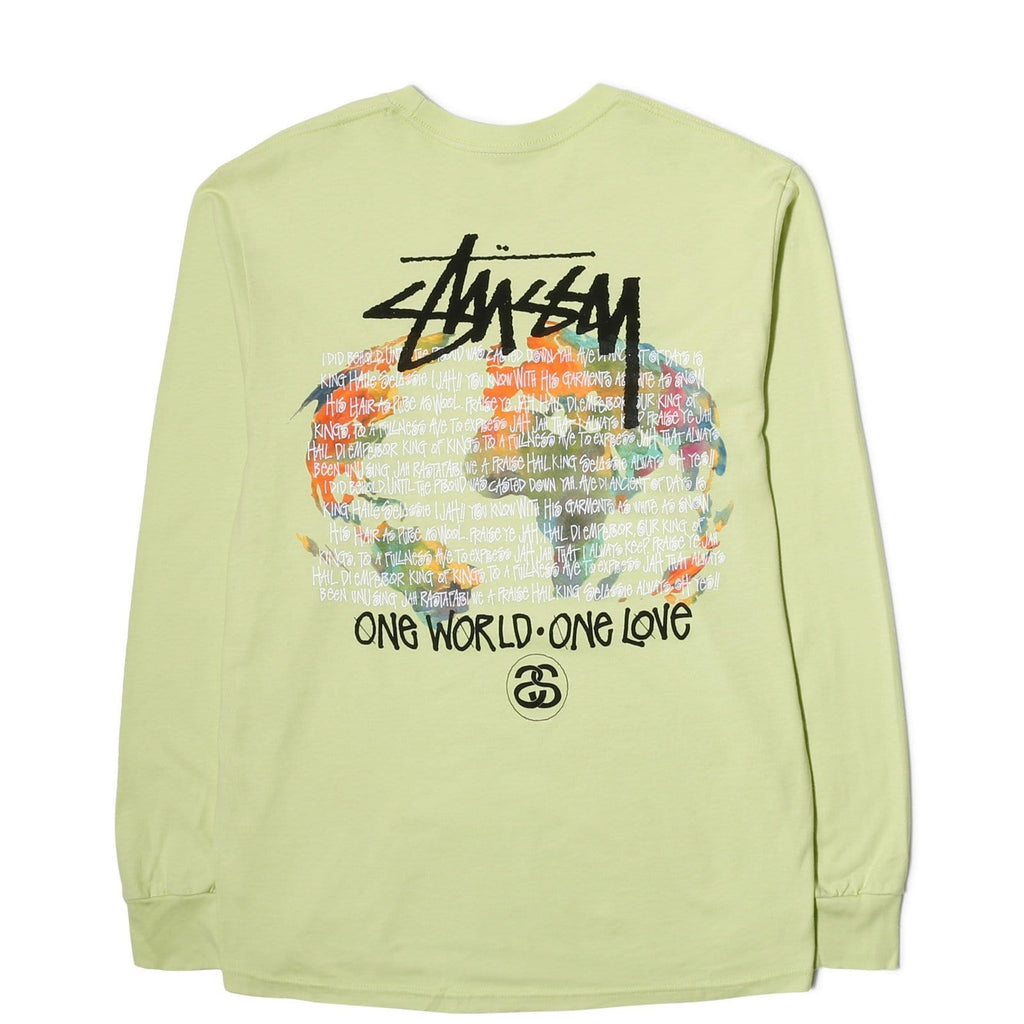 Stussy ONE WORLD LS TEE (Pale Green)