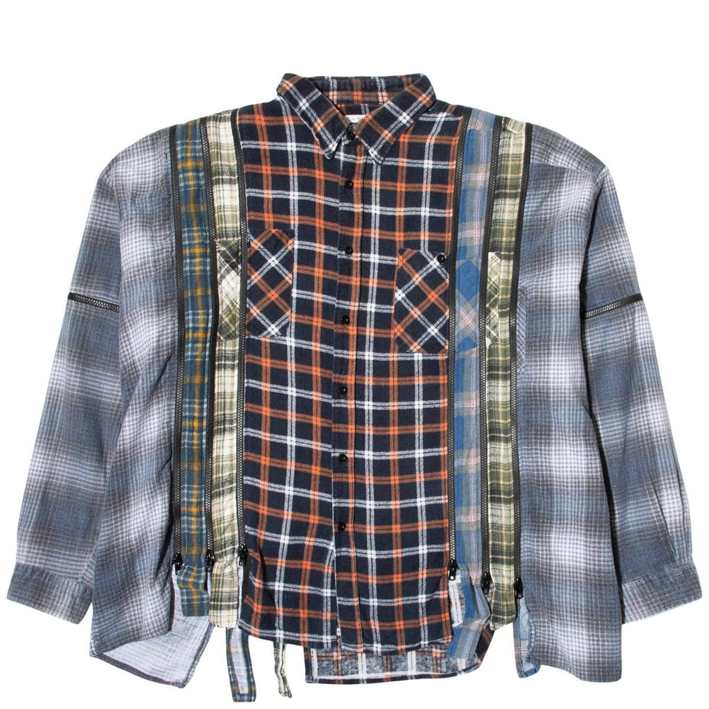 Needles Shirts ASSORTED / O/S 7 CUTS ZIPPED WIDE FLANNEL SHIRT SS21 2