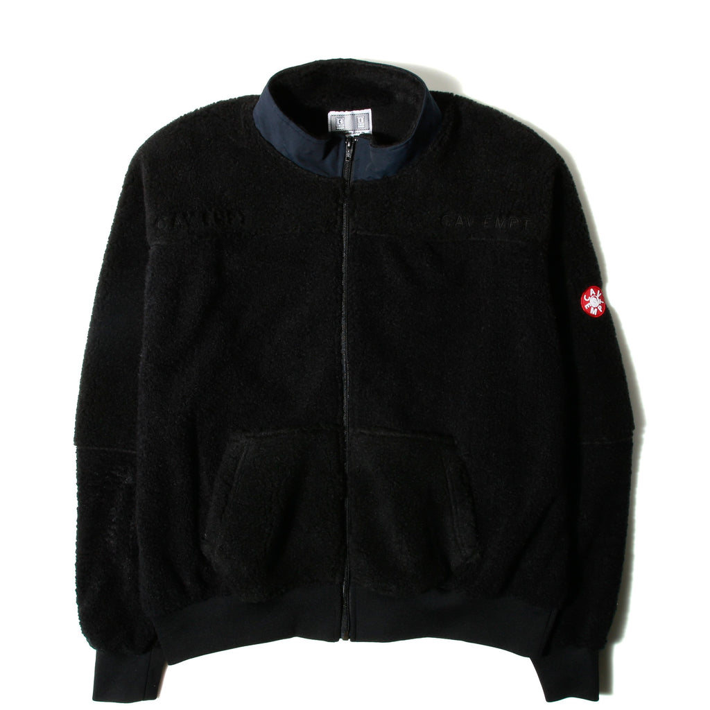 553571c972 Cav Empt PANEL FLEECE ZIP UP Black
