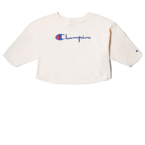 Champion Europe WOMEN'S CROPPED 3/4 SLEEVES T-SHIRT White