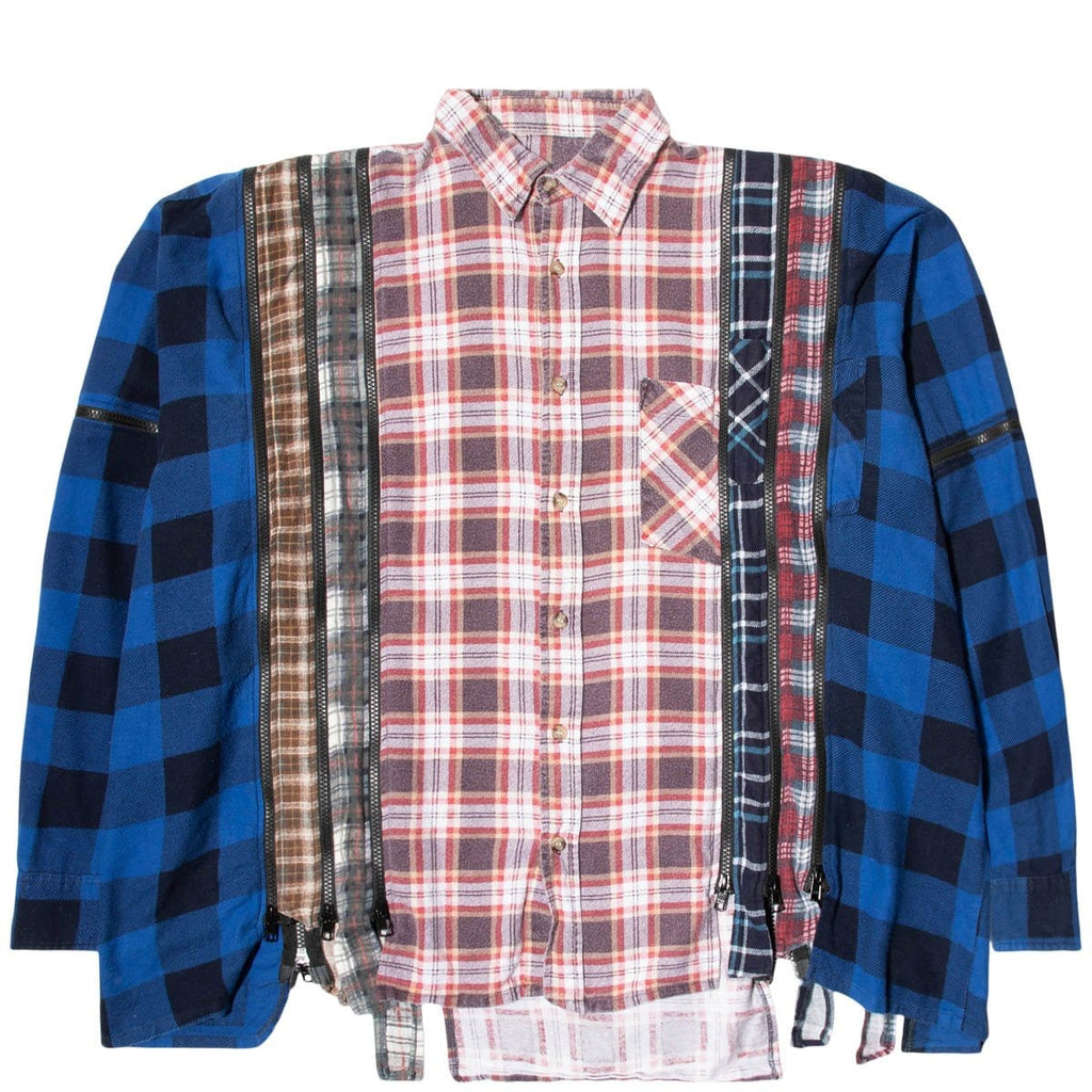 Needles Shirts ASSORTED / O/S 7 CUTS ZIPPED WIDE FLANNEL SHIRT SS21 8