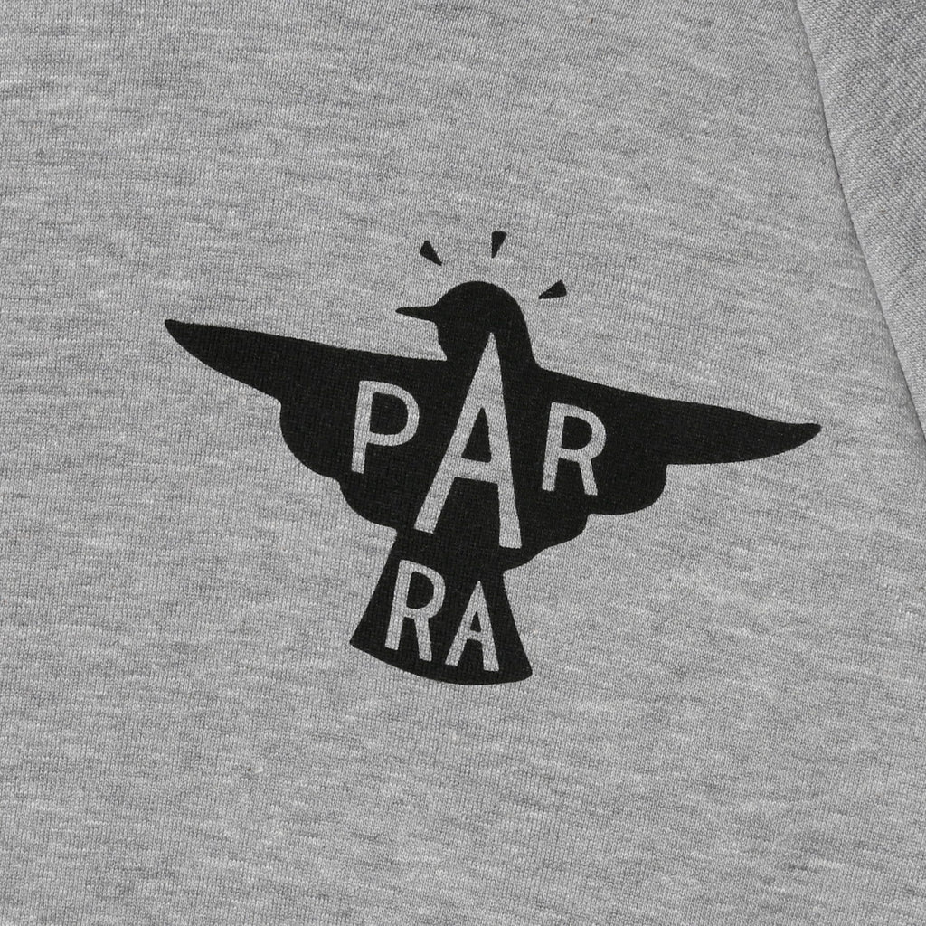 By Parra HOODED SWEATER JACKDAW LOGO Heather Grey