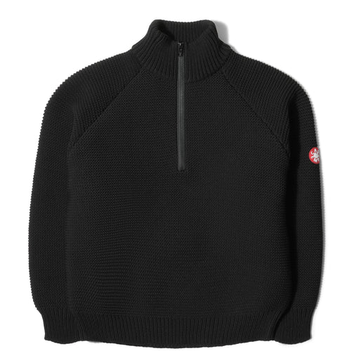 Cav Empt HALF ZIP P KNIT Black