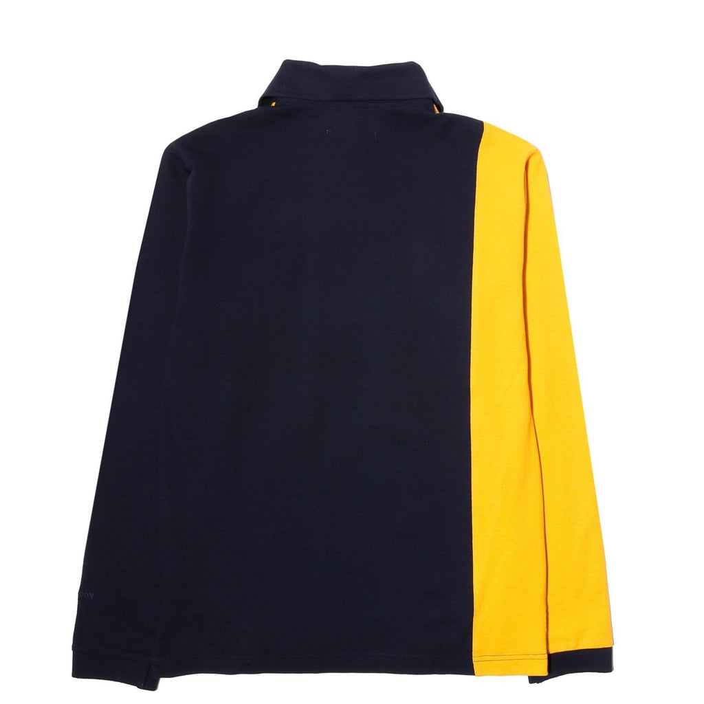 Grind London LONG SLEEVE POLO Mustard/Navy