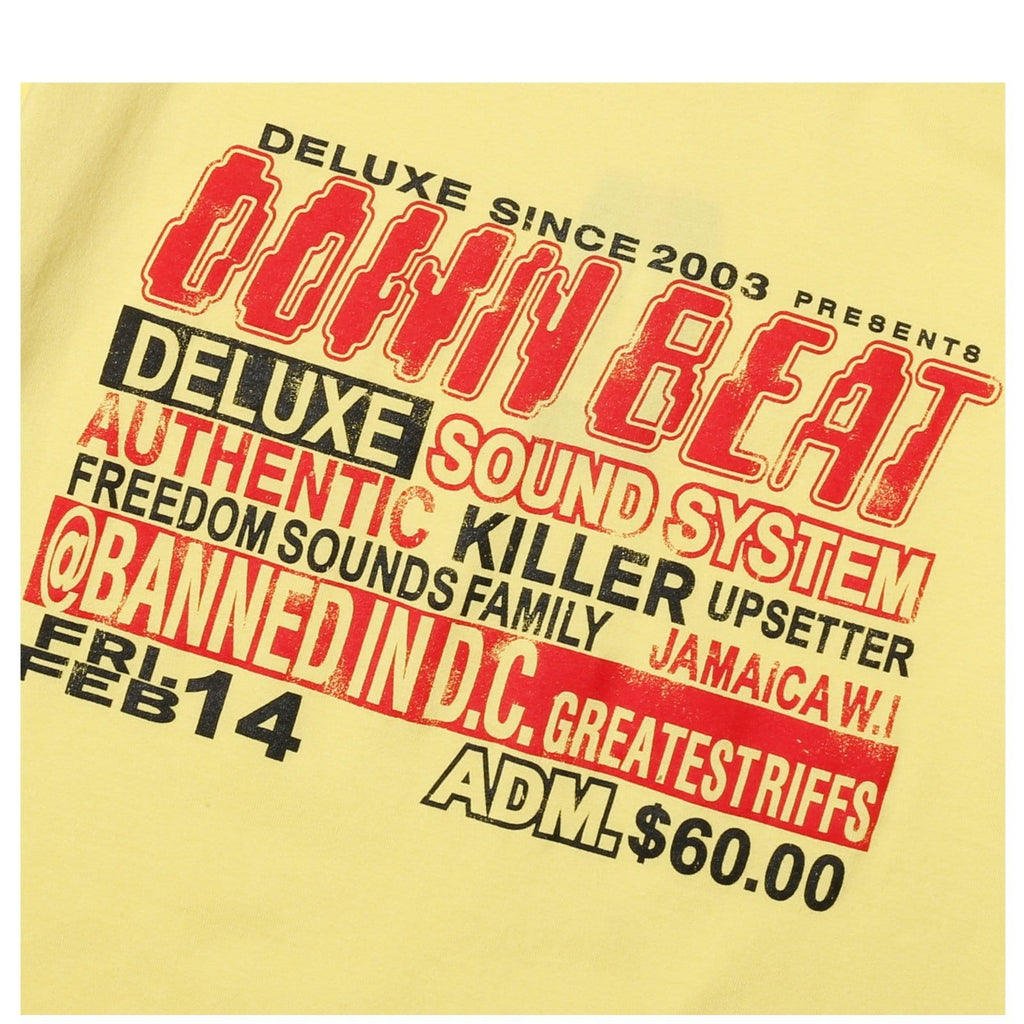 Deluxe DOWN BEAT TEE yellow