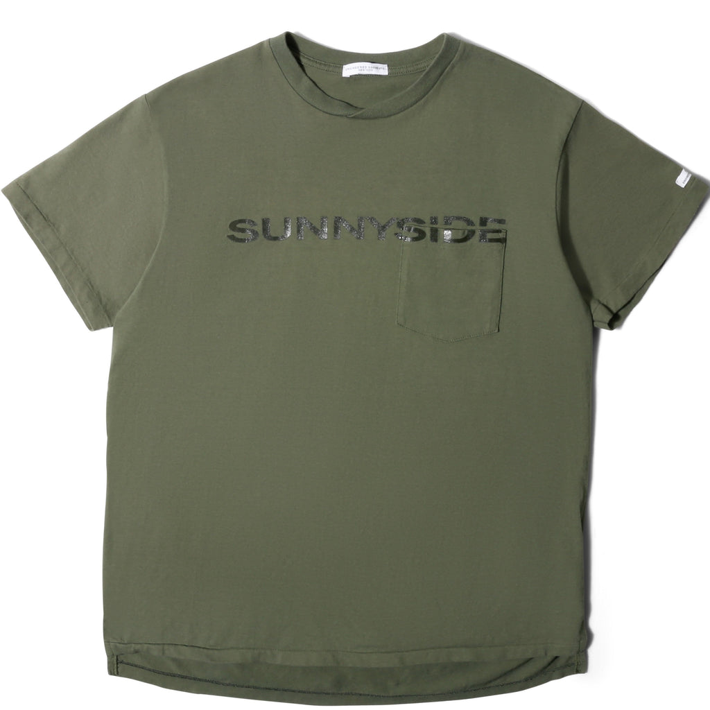 Engineered Garments PRINTED T-SHIRT Olive Sunnyside